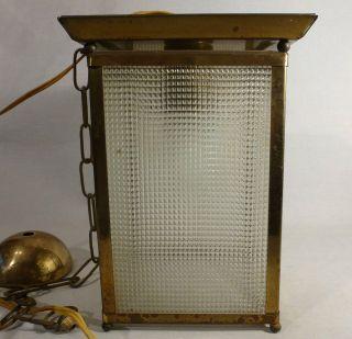 30/50er Bauhaus Flurlampe Deckenleuchte Messing Wagenfeld Ruhrglas