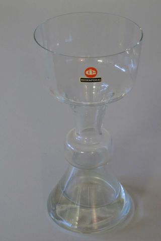Ingrid - Glas - Grosser Rosenpokal,  Höhe Ca.  22 Cm Aus Nachlass Bild