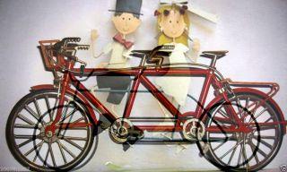 Miniatur Hochrad Einrad Fahrrad Tandem Hochzeit Rikscha Model Bike Deko Feuerz. Bild
