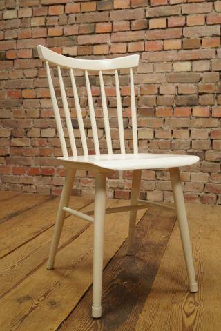 60er Designer Esszimmer Stuhl Side Dining Chair Ilmari Tapiovaara Ära Weiß Bild