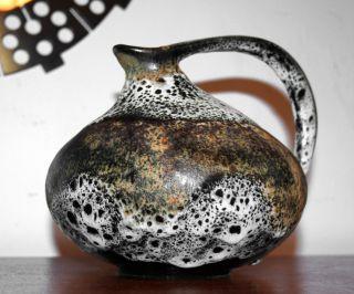 Vase Nr.  313,  Kurt Tschörner Für Ruscha,  Keramik,  Weiss - Sand - Schwarz,  1954 Bild