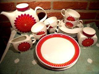 Melitta Kaffeegeschirr 6 Pers.  AußergewÖhliches Design Sternenmuster 60er Jahre Bild