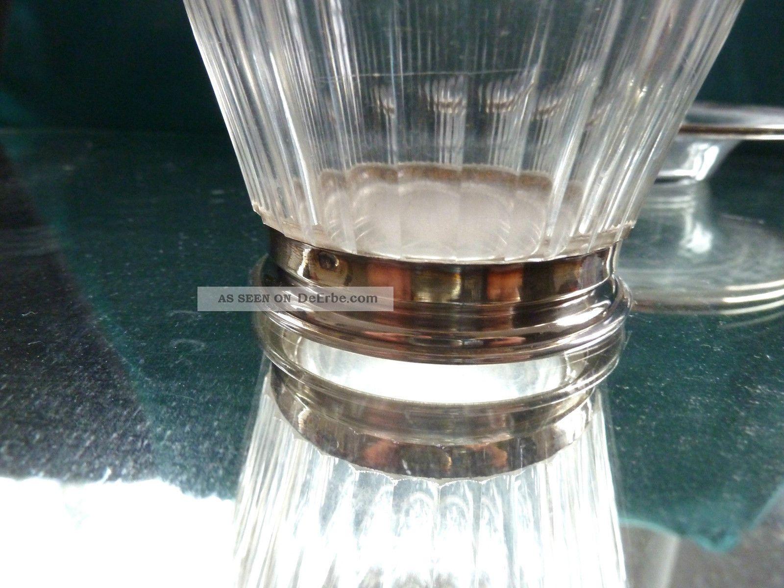 nacht karaffe mit glas und unterteller 950 er silber. Black Bedroom Furniture Sets. Home Design Ideas