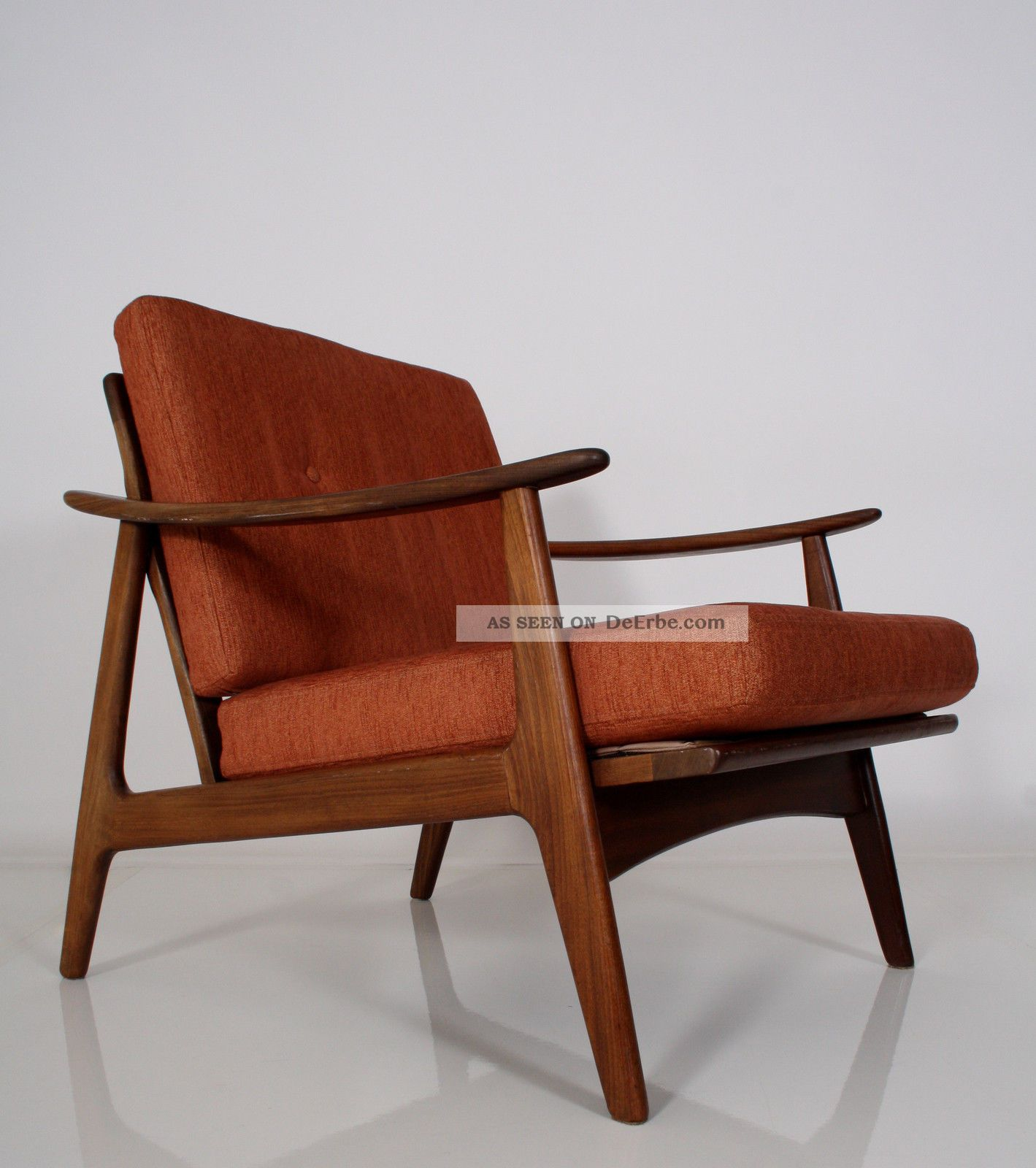 2 60er teak sessel danish design top 60s easy chairs fauteuil poltrona. Black Bedroom Furniture Sets. Home Design Ideas