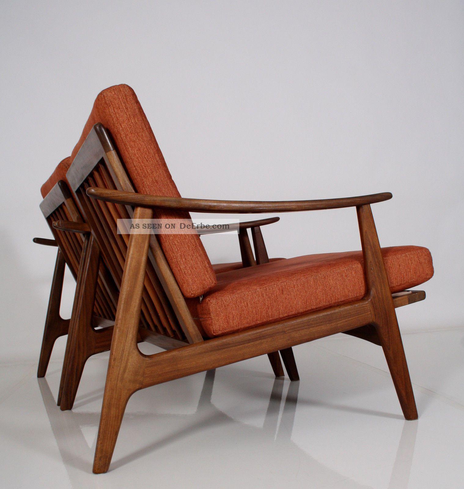 2 60er Teak Sessel Danish Design Top 60s Easy Chairs Fauteuil Poltrona