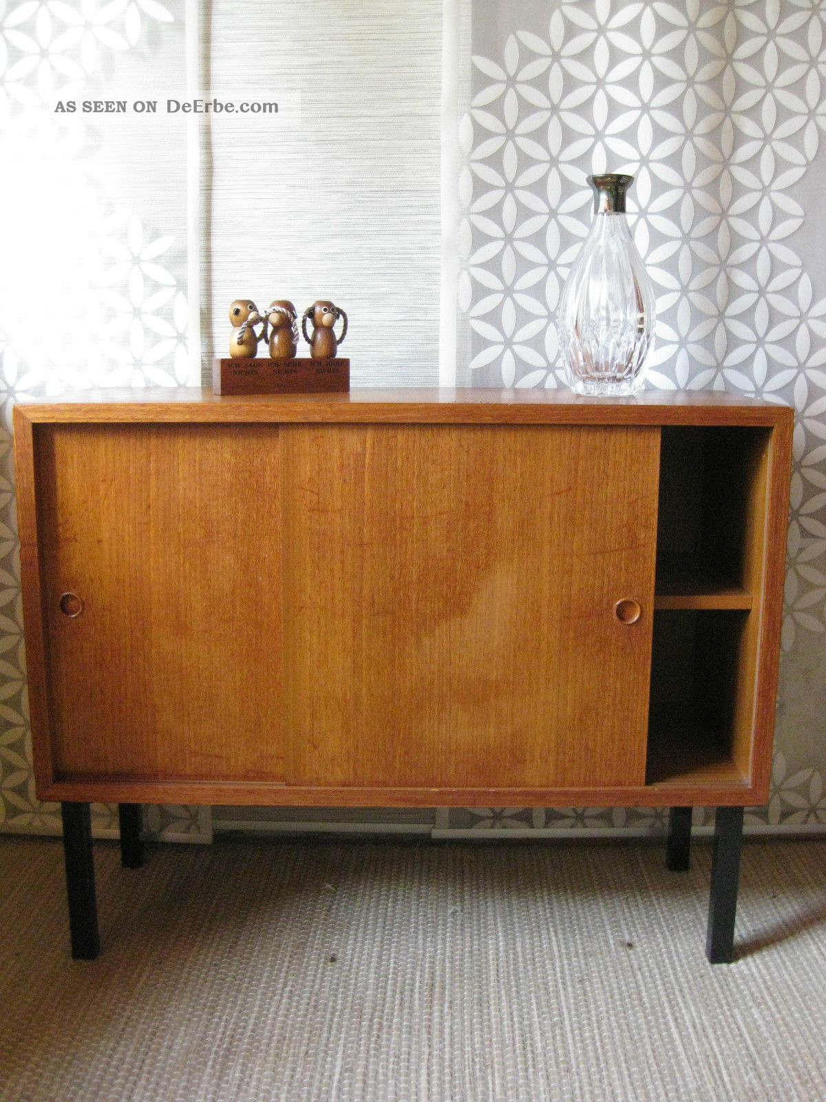60er jahre kommode sideboard string ra danish modern schiebet ren schrank. Black Bedroom Furniture Sets. Home Design Ideas