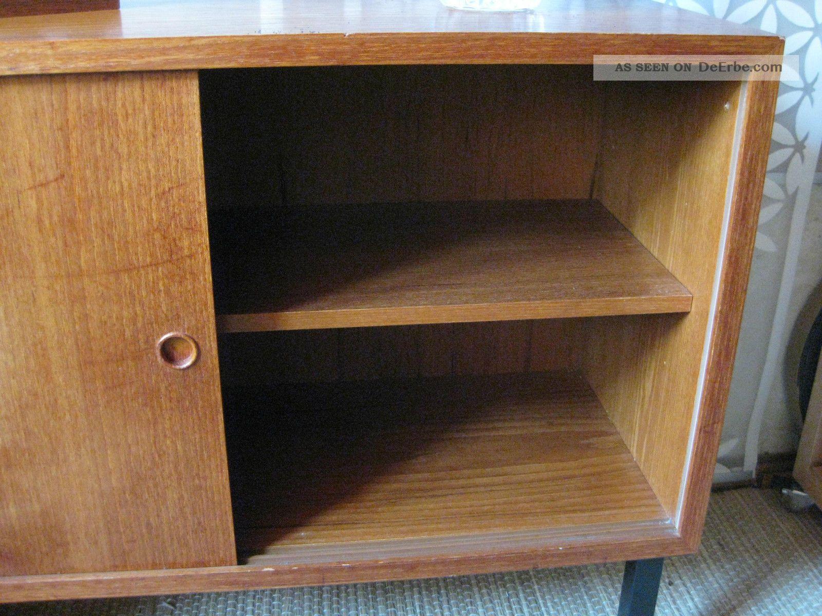 60er jahre kommode sideboard string ra danish modern schiebet ren schrank. Black Bedroom Furniture Sets. Home Design Ideas
