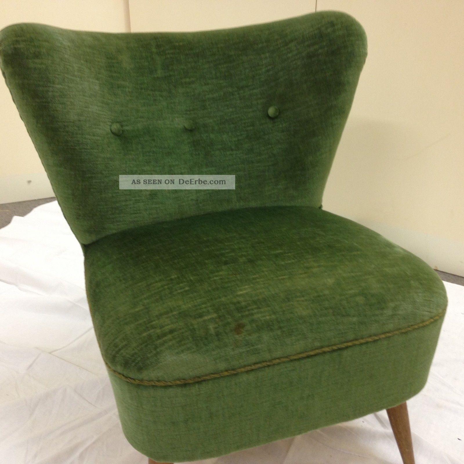 Rockabilly Sessel 50 Jahre Grün