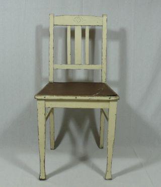 Jugendstil Stuhl Holz Weiß Bild