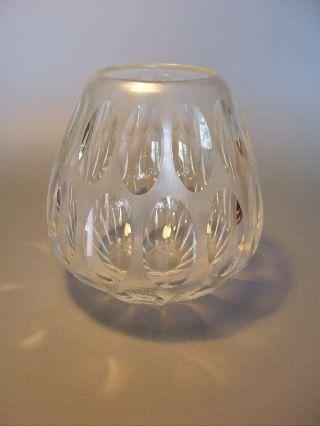 Vase Glas Wmf Olivschliff Martellierte Fläche Erich Jachmann / Wilhelm Von Eiff Bild