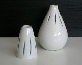 Sgrafo Modern 2x Vase Porzellan 50er Jahre Peter Müller 50s Bild