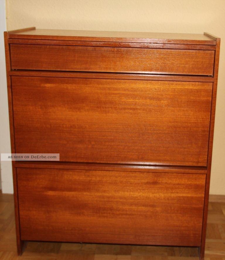 teak schuhschrank schrank kommode. Black Bedroom Furniture Sets. Home Design Ideas