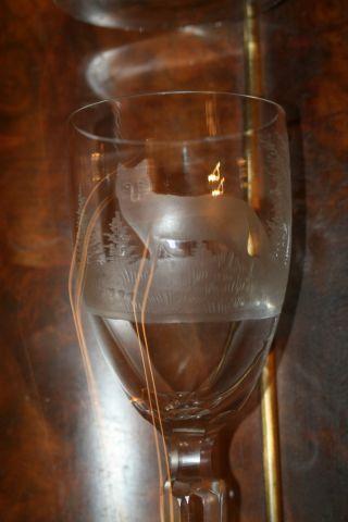 Antike Weingläser 2 Stk.  Mit Tiefschliff Jagdscene Bild