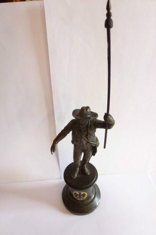 Jugendstil Art Nouveau Standfigur Bronze?? Andreas Hofer Tiroler Adler Sockel Bild