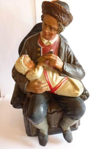 Jugendstil Tabakdose Edelmann Füttert Baby Von Bernhard Bloch Keramik Um 1900 Bild