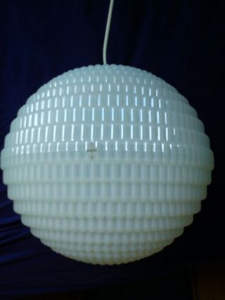 Hartplastik - Kugel - Lampe /plastic Bowl Lamp 70ties Vintage Stylish Magic Bild