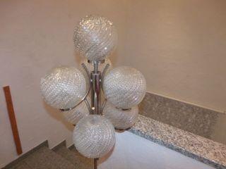 Stehlampe Space Age Eisglas Kugellampe 7 Flammig 70er Jahre Bild