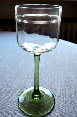 4 Art Deco Weingläser,  Höhe 17 Cm.  Sehr Gut Erhalten Bild