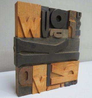 15 Holzlettern,  Plakatlettern,  Holzbuchstaben,  Typographie Bild