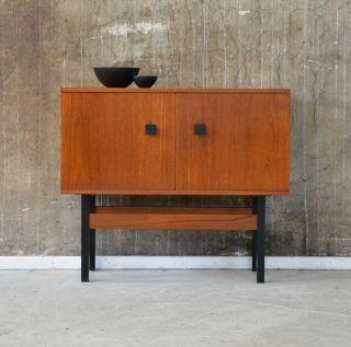 60er Teak Kommode Midcentury 60s Teakwood Vintage Cabinet Bild