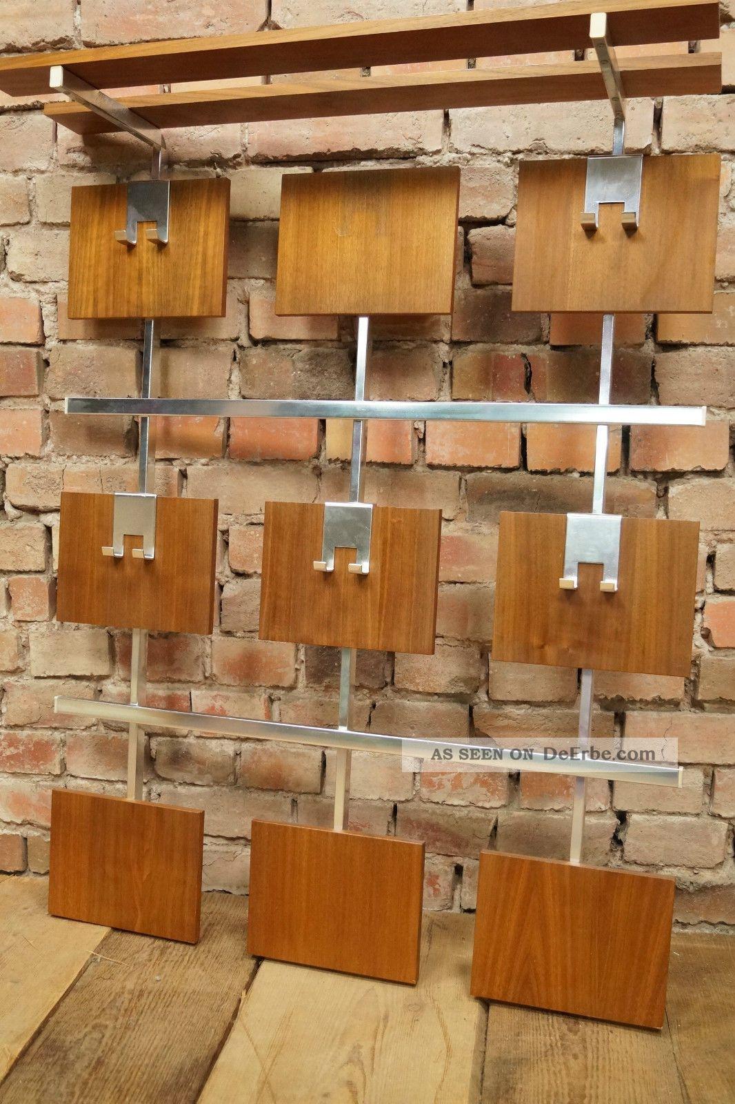 60er nussbaum garderobe wandgarderobe wardrobe danish for Garderobe 60er design
