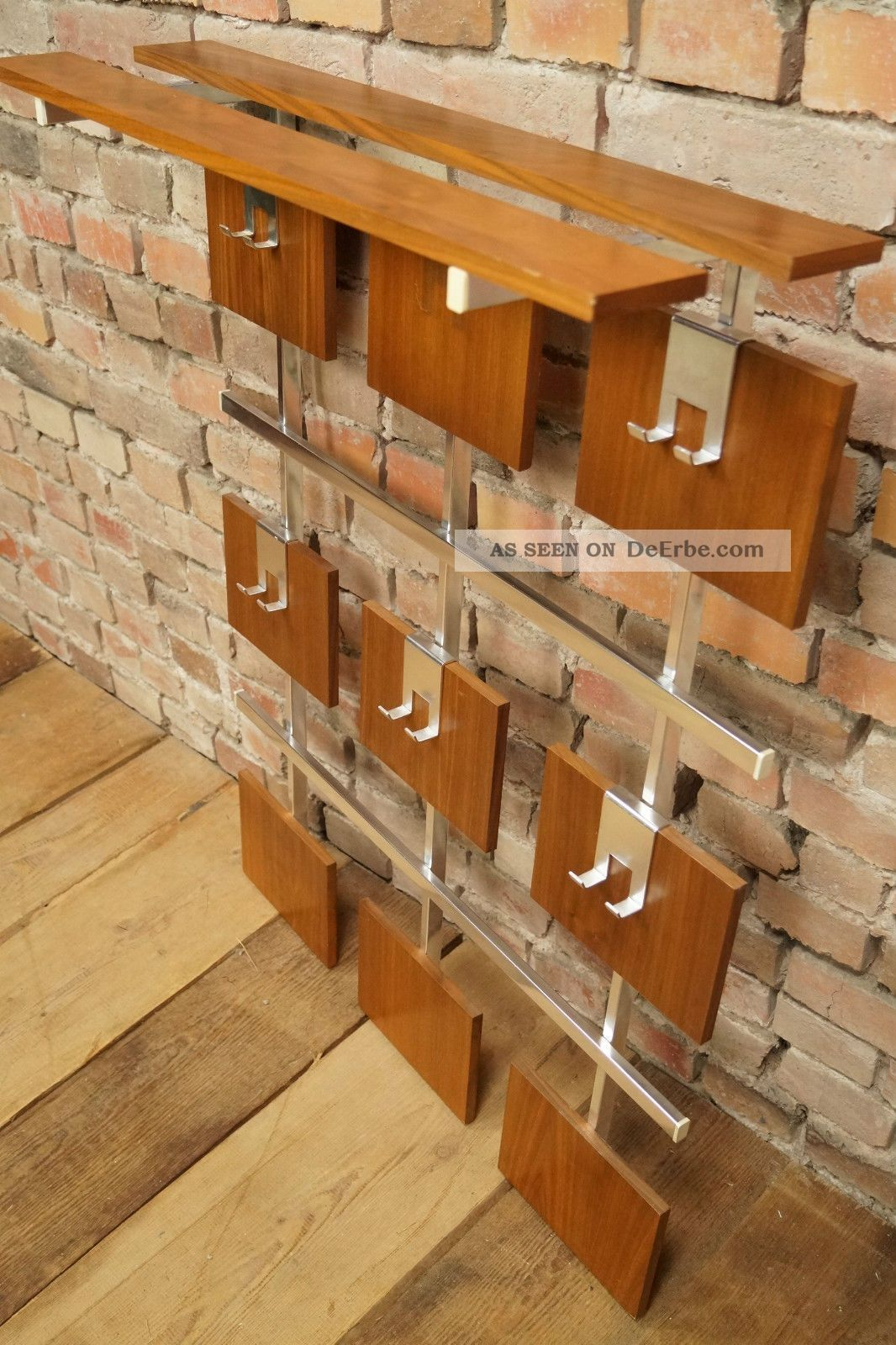 60er nussbaum garderobe wandgarderobe wardrobe danish. Black Bedroom Furniture Sets. Home Design Ideas