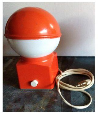 Pilzkopflampe 60/70er Jahre Orange Tischleuchte,  Lampe 70s Panton Space Age Bild