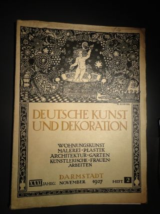 Design stil 1890 1919 jugendstil antiquit ten for Zeitschrift dekoration
