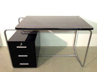 Bauhaus Art Deco Schreibtisch Stahlrohr Thonet Chrom Writing Desk Modernism Orig Bild