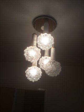 70er Jahre Lampe Leuchte Deckenlampe Kugellampe Bubble Kaskade Space Age Design Bild