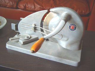 Brotschneidemaschine Handkurbel Ritter Patent Edelstahl Alleschneider Bild