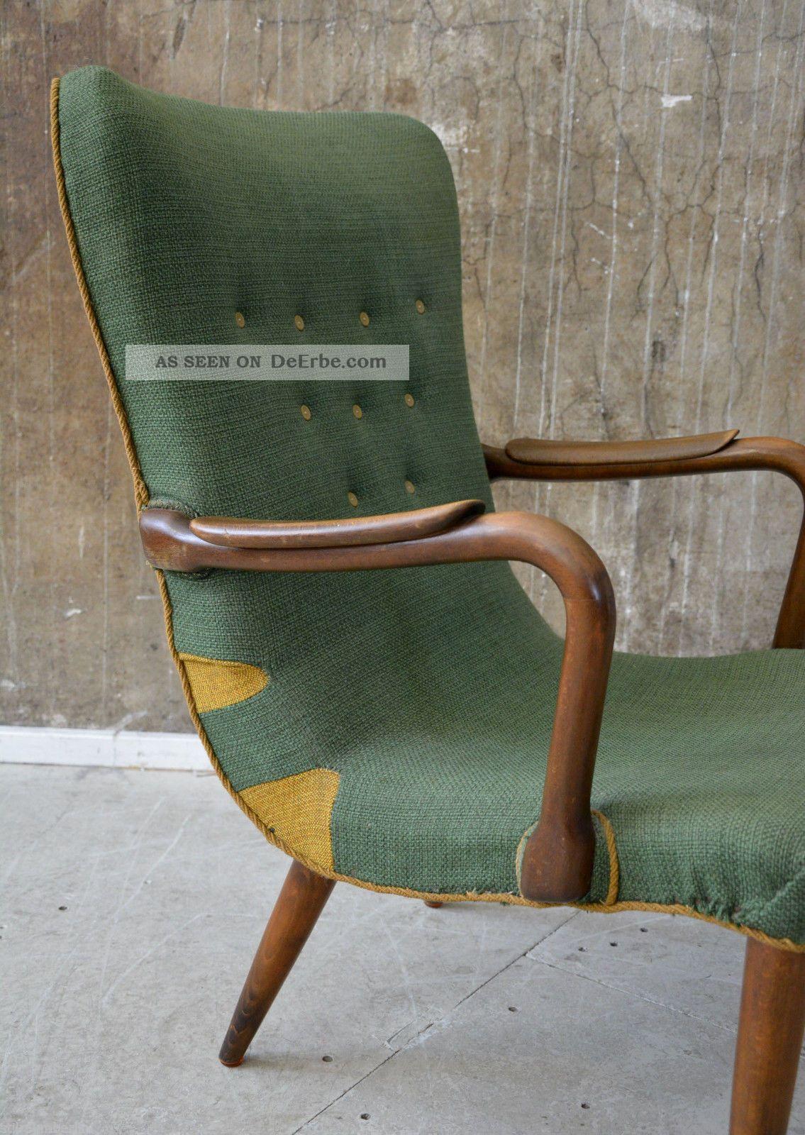 50er Sessel Midcentury 50s Vintage Easy Chair Danish Design Finn