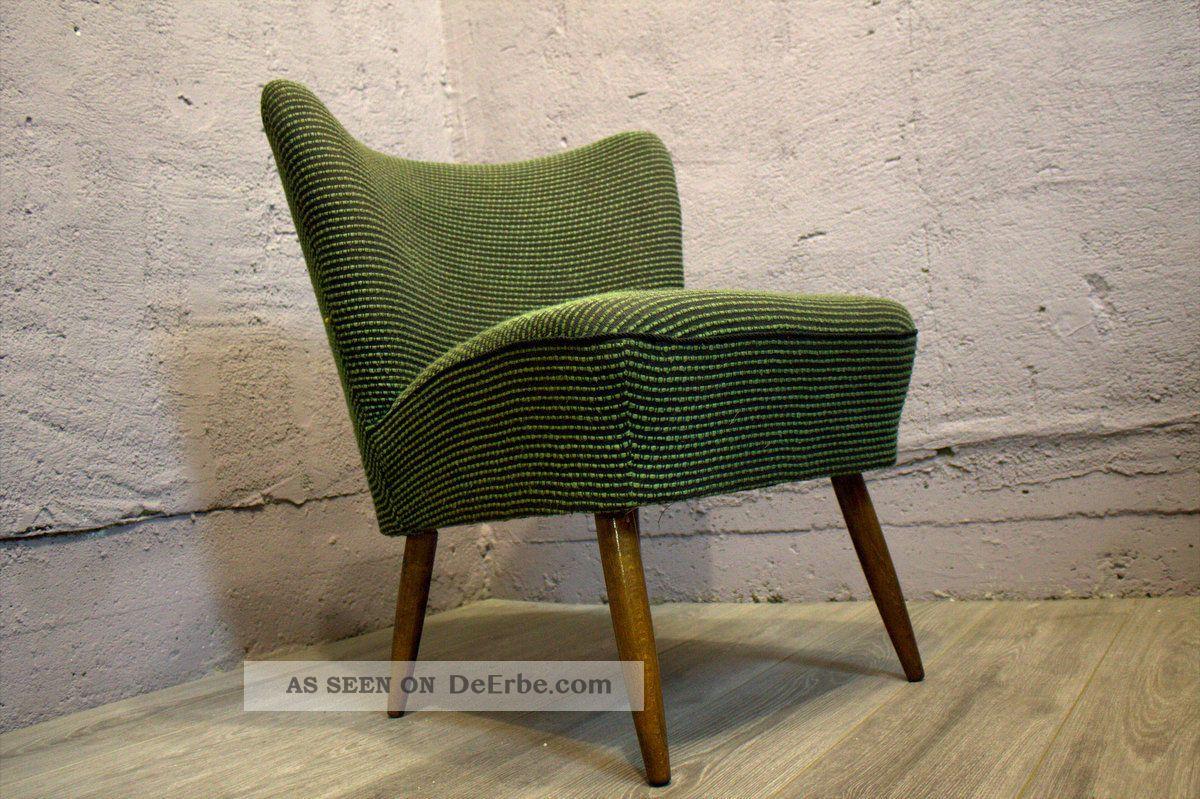 2 x midcentury modern sessel chair cocktailsessel 50er rockabilly top. Black Bedroom Furniture Sets. Home Design Ideas