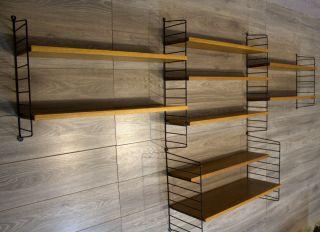 Shelf Unit Regal Regalsystem String Strinning Ladder Shelf Teak 50er 60er Nr1 Bild