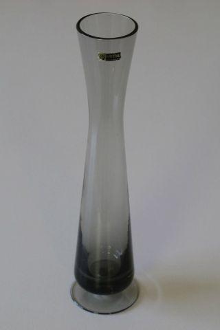 Schlanke Wmf - Vase Auf Fuß,  Rauchglas,  Grau,  22 Cm Hoch - Kristallglas - Bild