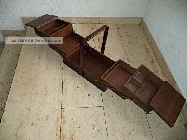 gro er holz n hkasten 50er 60er jahre n hbox mid century. Black Bedroom Furniture Sets. Home Design Ideas