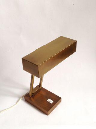 Pfäffle Lese Lampe Schreib Tisch Banker Arbeits Leuchte 60er Vintage Messing Bild