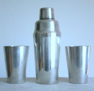 Art Deco Cocktail - Shaker,  2 Becher,  30er J. ,  Wmf Bienenkorb - Marke,  Versilbert Bild