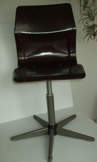 70er Obo Pagholz Stuhl Drehstuhl Holz Pagwood Vintage Chair Eames Panton Ära Bild