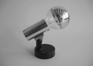 70er Hoffmeister Heute Staff Chrom Strahler Designleuchte Lampe Panton Erco Stil Bild