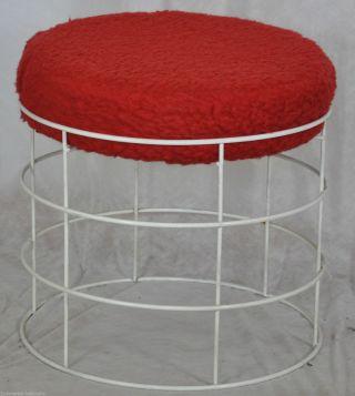 Polster - Hocker/stool Sitzhocker/fußhocker 60er Jahre String/strinning Space Age Bild