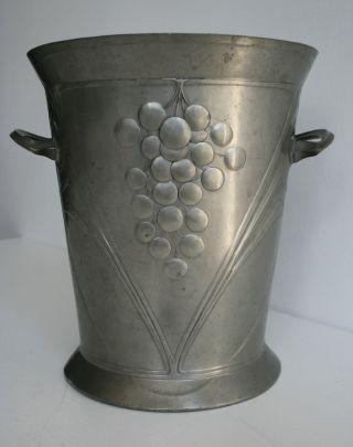 Jugendstil Zinn Weinkühler Von Gebr.  Goldschmidt Bild