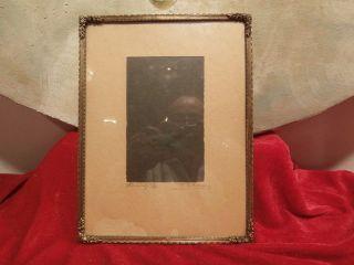 Antiker Jugendstil - Messingrahmen Bilderrahmen Fotorahmen Goldrahmen Bild