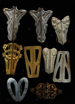 9 Gürtel Schliessen Gürtelschließen Jugendstil Metall Bild