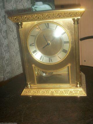 Hettich Tischuhr Uhr Sehr Schwer Kamin Uhr Quartz Mit Pendel 4,  2 Kg. Bild