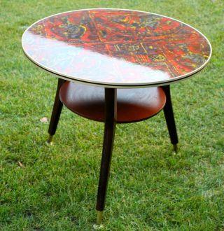 50er 60er Jahre Tisch Retro Bild