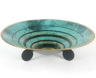 Wmf Bronze Schale Ikora 20er / 30er Jahre Design Art Deco / Bauhaus Ära Bowl Bild