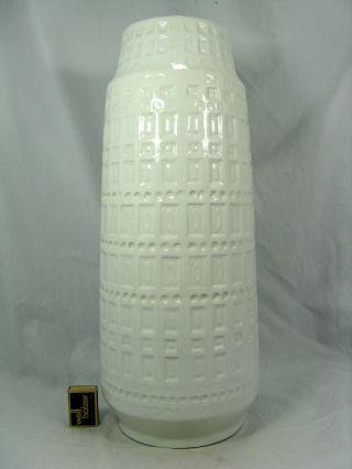 Weiße / White 70´s Design Scheurich Keramik Pottery Vase 260 - 52 Bild