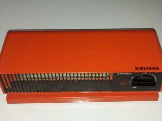 Siemens Automatic Heizlüfter 70er Vintage Kult Orange Lüfter Heizung 2000 Watt Bild
