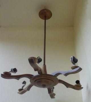 Kronleuchter,  Holz Bild